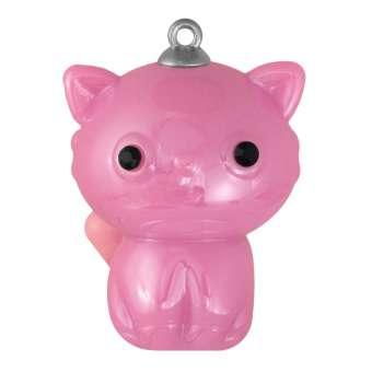 "Schmuck-Anhänger ""Katze"", 35 mm, dunkel-rosa dunkel-rosa"