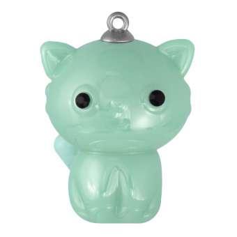 """Schmuck-Anhänger """"Katze"""", 35 mm, pastell-grün pastell-grün"""