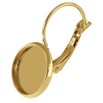 Ohrhaken für Ø 12 mm große Cabochons, goldfarben gold