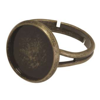 Ring für Ø 14 mm große Cabochons, bronzefarben bronze