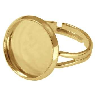 Ring für Ø 16 mm große Cabochons, goldfarben gold