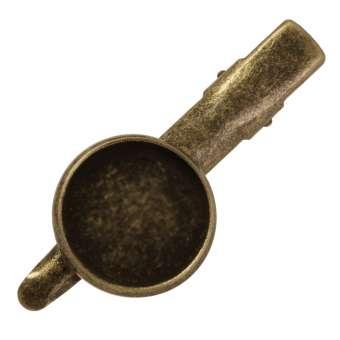 Haarclip für Ø 14 mm große Cabochons, bronzefarben bronze