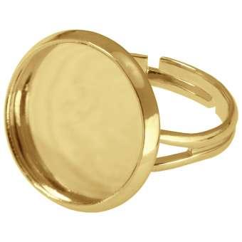 Ring für Ø 18 mm große Cabochons, goldfarben gold