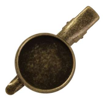 Haarclip für Ø 18 mm große Cabochons, bronzefarben bronze