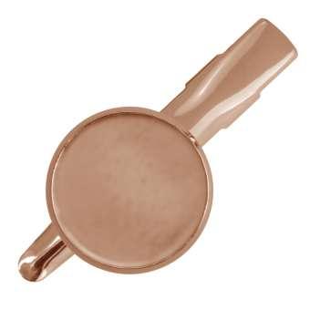 Haarclip für Ø 16 mm große Cabochons, roségoldfarben roségold