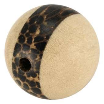 Palmwood & White Wood, 20mm, rund, versch. Brauntöne 20mm Palm- / White Wood