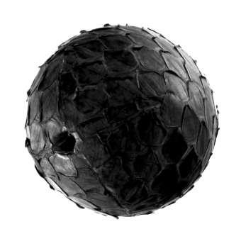 Perle aus Leder, 20mm, rund, schwarz