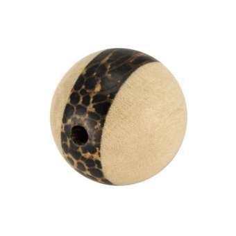 Palmwood & White Wood, 8mm, rund, versch. Brauntöne 8mm Palm- / White Wood