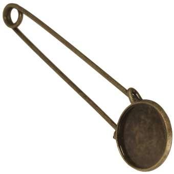 Anstecknadel für Ø 18 mm große Cabochons, bronzefarben bronze