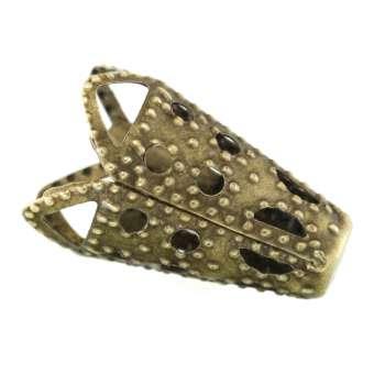 Perlenkappe, 16X16mm, konisch, bronzefarben bronzefarben
