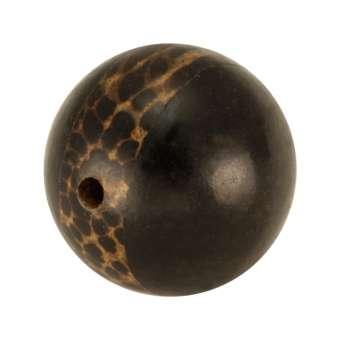 Palmwood & Tiger Ebony Wood, 12mm, rund, versch. Brauntöne 12mm Palm- / Tiger Ebony Wood