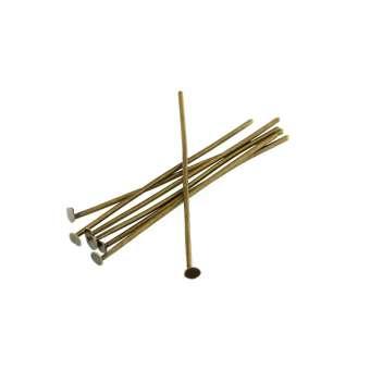 Nietstifte (100 Stück), 34X0,7mm, Stäbchen (Stiftform), bronzefarben bronzefarben
