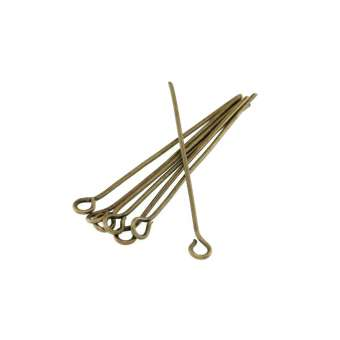 Kettelstifte (100 Stück), 34X0,7mm, Stäbchen (Stiftform), bronzefarben bronzefarben