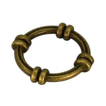 Zierring, Metall, 21mm, bronzefarben bronzefarben