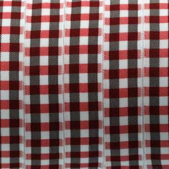 Karoband, 100cm, 15mm breit, rot rot
