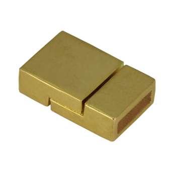 Magnetverschluss, 21mm, Loch-Ø 10X3mm, goldfarben goldfarben