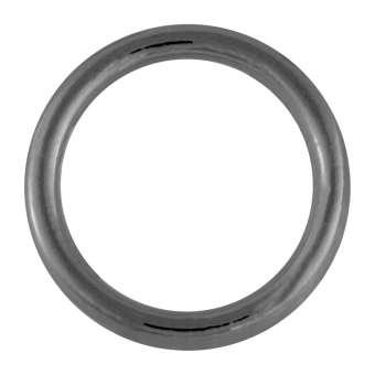 Edelstahl-Ring, 25 mm, schwarz-silberfarben schwarz-silberfarben