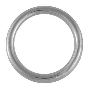 Edelstahl-Ring, 25 mm, silberfarben silberfarben