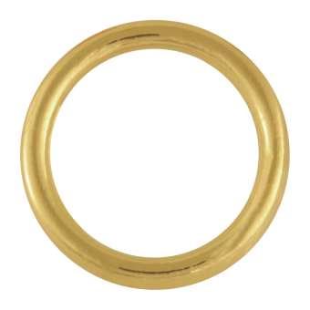 Edelstahl-Ring, 25 mm, goldfarben goldfarben