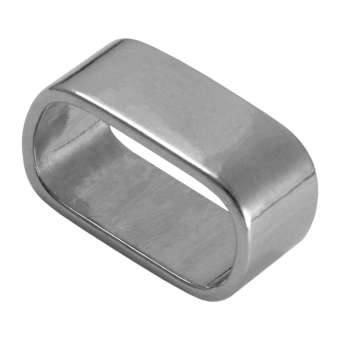 Slider, 23X13 mm, Loch-Ø 20X10 mm, Metall, silberfarben silberfarben