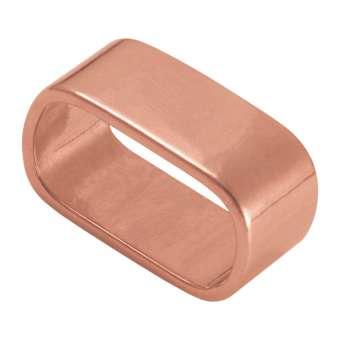 Slider, 23X13 mm, Loch-Ø 20X10 mm, Metall, kupferfarben kupferfarben