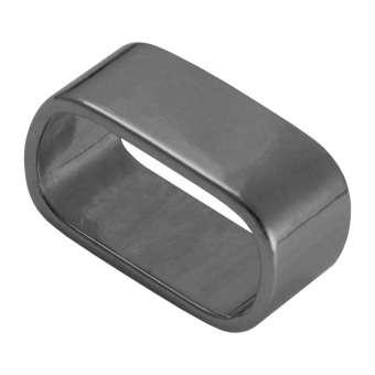 Slider, 23X13 mm, Loch-Ø 20X10 mm, Metall, schwarz-silberfarben dunkel-silberfarben