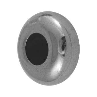 Hematit Perle, 15X8mm, silber silber