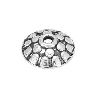 Perlenkappe, Metall, 11X3mm, Metall, silberfarben
