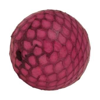 Perle aus Leder, 20mm, rund, pink