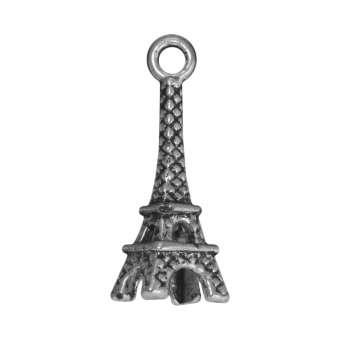 Eiffelturm Anhänger, 21 mm, silberfarben