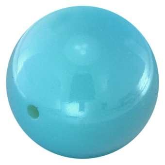 Lackierte Kunststoffperle, 25mm, hellblau 25 mm