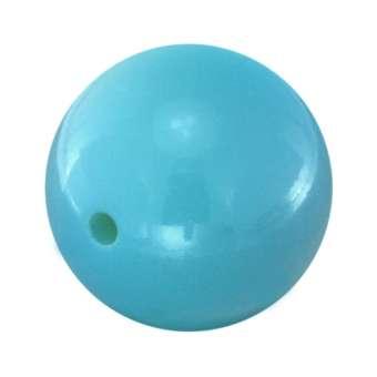 Lackierte Kunststoffperle, 20mm, hellblau 20 mm