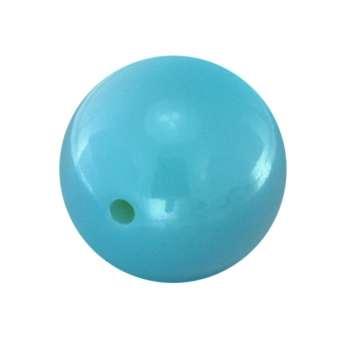 Lackierte Kunststoffperle, 18mm, hellblau 18 mm