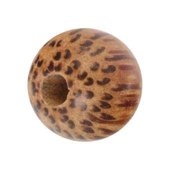 Holzperle (Palmwood), 10mm, rund, hellbraun Palmwood, hellbraun
