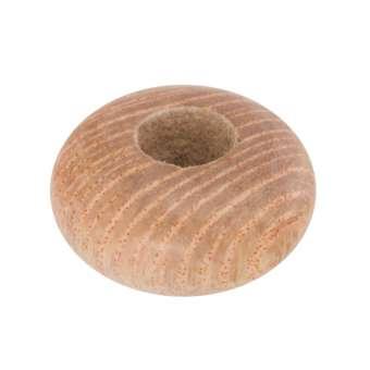 Großlochperle aus Holz (Rosewood), 12mm, rund, hellbraun Rosewood, hellbraun