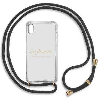 iPhone XR Handy-Hülle, schwarz-gold iPhone XR, schwarz-gold