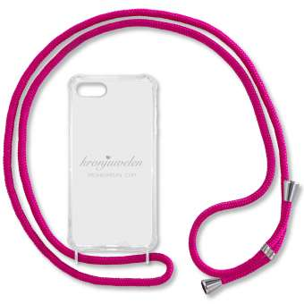 iPhone 7 und 8 Handy-Hülle, pink-silber iPhone 7 und 8, pink-silber
