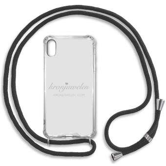 iPhone XR Handy-Hülle, schwarz-silber iPhone XR, schwarz-silber