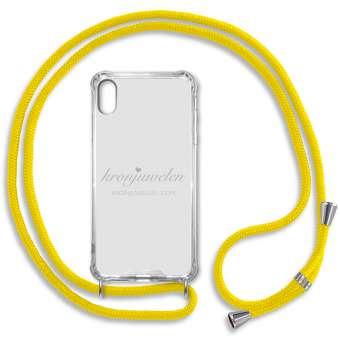 iPhone XR Handy-Hülle, gelb-silber iPhone XR, gelb-silber