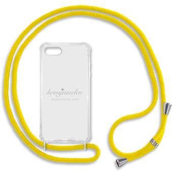 iPhone 7 und 8 Handy-Hülle, gelb-silber iPhone 7 u. 8, gelb-silber