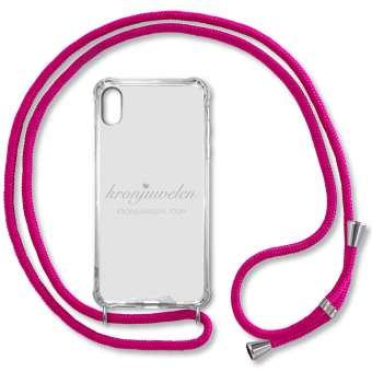 iPhone XR Handy-Hülle, pink-silber iPhone XR, pink-silber