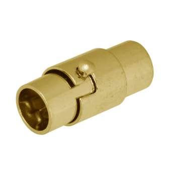 Magnetverschluss, 16X7mm, Loch-Ø 6mm, Metall, goldfarben
