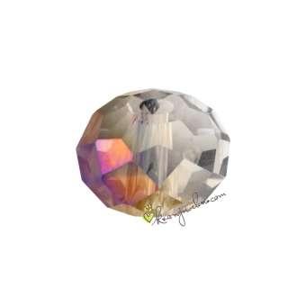 Glasschliffperle, briolette, 8X6mm, transparent AB2x transparent AB2x