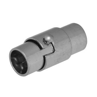 Magnetverschluss, 18X10mm, Loch-Ø 5mm, Metall, silberfarben Loch-Ø 5mm