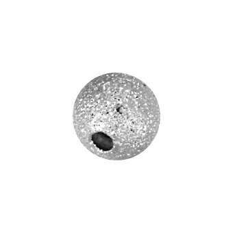 Metallperle, 6mm, silberfarben silberfarben