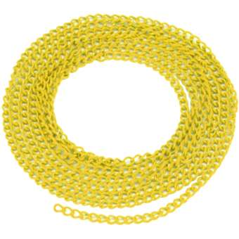 Schmuckkette, 20cm, 3mm breit, zitronengelb zitronengelb