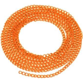 Schmuckkette, 20cm, 3mm breit, orange orange