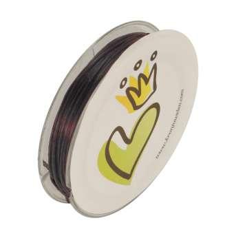 Elastisches Fädel-/ Schmuckband (10m),0,9mm X 0,2mm, braun braun