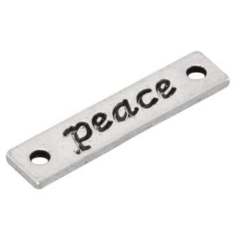 """Metallanhänger """"peace"""", 25,5mm, silberfarben silberfarben """"peace"""""""