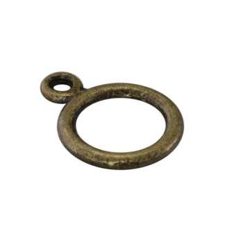 Anhängerhalter aus Metall, 14mm, bronzefarben